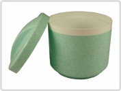 Denture base / dental container /denture base box /braces container with a sieve and lid, colour green