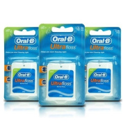 THREE PACK Oral-B Ultrafloss Dental Floss Mint 25m