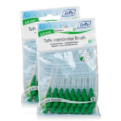 TEPE Interdental Brushes 0.8mm - 2 Packets of 8 (16 Brushes) Green