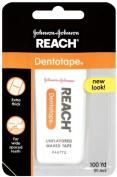 Reach Dentotape, Unflavored, Waxed Floss, 100 Yard