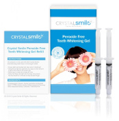 Crystal Smile Advanced Teeth Gel 2 X 10cc. EU & UK Approved. Professional High Grade Peroxide Free Gel used in Dental Practises Worldwide- All Products made in the U.S.A