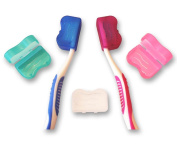 Toothbrush Cover for Head (Set of 5 Colours) ~ Electric & Manual Toothbrush Travel Case