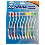 10 pack Toothbrushes - DENTACARE ICESHINE toothbrushs pack of ten