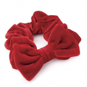 Red Velvet Large Bow Hair Scrunchie AJ27469