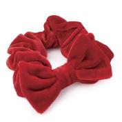 Red Velvet Large Bow Hair Scrunchie AJ27469