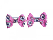 Pair of 2 Converse Hair Bow Bobbles on elastic ribbon - perfect hair accessory / accessories for girl's birthday parties or party bags and every day www.favourstudio.com