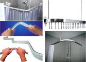 Quality Non Rust Chrome Bendi Flexible Adjustable U L P Shape Corner Shower Curtain Rail Track