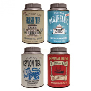 Set Of 4 Martin Wiscombe Tea Canisters
