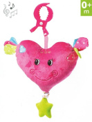 Musical Hanging Toy with Pull Cord -- For Pram, Strollers, Cots, Cribs, Car Seats, Booster Seats -- Design