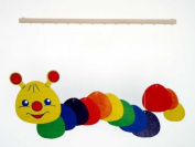 Hess Wooden Caterpillar Decor Mobile