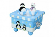 Orange Tree Toys Wooden Penguin & Polar Bear Music Box