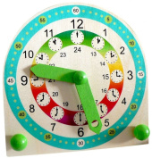 Hess Wooden Toddler Stand Children Toy Clock