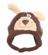 Kids Boys Girls Thermal Warm Fleece Novelty Bear Face Winter Hat B59