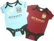 Brecrest Babywear Manchester City Football Club Core Short Sleeve Bodysuit