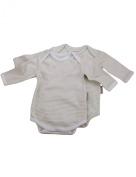 Beaming Baby Organic Cotton Long Sleeve Envelope Neck Bodysuit - 2 pack