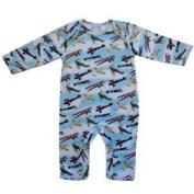 vintage aeroplane spitfire design jumpsuit size 6-12 months