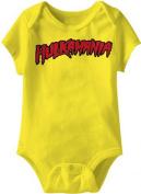 Hulkamania Hulk Hogan Logo Yellow Snapsuit Infant Onesie Baby Romper
