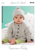 James C Brett 4 Ply - JB125 Baby Cardigans & Hat Patterns 31-51 cm