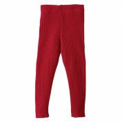Disana Knitted Baby Leggings/Trousers in Organic Merino Wool Red 74/80 6-12m