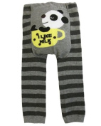 Baby and Toddler Woolly leggings by Dotty Fish boys Grey Perfect Panda