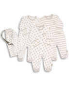 The Essential One - Unisex Pack of 3 Baby Sleepsuits / Babygrows ESS39