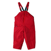 Togz 6-7 yr Red Waterproof Dungarees - 130cm