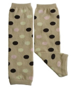 Leg warmers by Dotty Fish Cream spotty design - One Size Girls and Boys