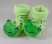 Green Frog - Irresistibly Cute Baby Boy Girl 3D Bootie Socks Anti / Non Slip 0-12 months