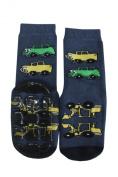 "Weri Spezials High ABS Terry Socks, dark Blue, ""Cars""."