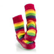 Mocc Ons By Sock Ons Colour Rainbow : Size 2-3 Years - NEW SIZE!!