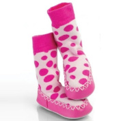 Mocc Ons By Sock Ons Spotty Pink 12-18 Months