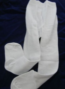 2 Pairs of NEW WHITE Baby TIGHTS Size 0-6 months