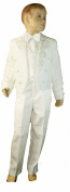 Baby Boys Cream Tail Backed 5 Piece Tuxedo Suit - Incs Waistcoat, Jacket With Tails, Trousers, Bowtie & Shirt