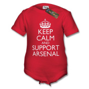 Keep Calm And Support Arsenal Baby Vest