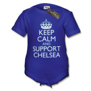 Keep Calm and Support Chelsea Baby Vest