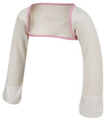 ScratchSleeves | Stay-on Scratch Mitts for Itchy Babies & Toddlers | Cream/Pink