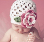 Baby Flower Crochet Beanie Handmade Hat Winter Knit Cap