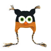 Multicolor Knitted Baby Girls Boys Hat Owl with Ear Flap