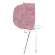 Sue Hill Hand Knitted Cashmere Sunshine Bonnet 12-18m Pink