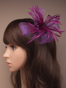 Deep Purple Hair fascinator for Weddings,Christenings, Prom, Ascot