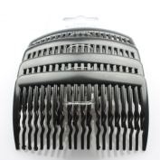 4 Black Plastic Hair Combs IN8021