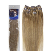Forever Young Light Ash Blonde #16 Clip In Human Hair Extension Half Head Set - 46cm Long