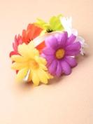 Flower Fabric Daisy Hair Scrunchie / Elastic
