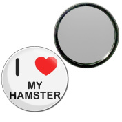I Love My Hamster - 77mm Round Compact Mirror