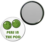 Peas in the Pod - 77mm Round Compact Mirror