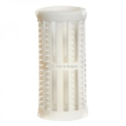 SKELOX Plastic Hair Rollers/ Curlers 12 x 30mm WHITE + Free Pins!