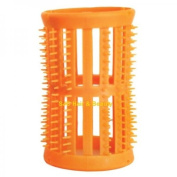 SKELOX Plastic Hair Rollers/ Curlers 12 x 40mm Orange + Free Pins!