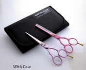 Professional Pink Hairdressing Scissors & Thinning Scissors SET 14cm - with Presentation Case
