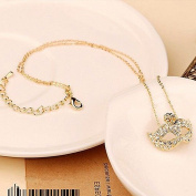 Fashion Womens Vintage Retro Crystal Fox Mask Necklace Charm Ladies Pendant