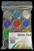 Value Pack ~ 12 x 5g Pots of Cosmetic Grade Glitter